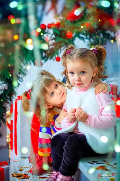 детская новогодняя фотосессия в студии фото