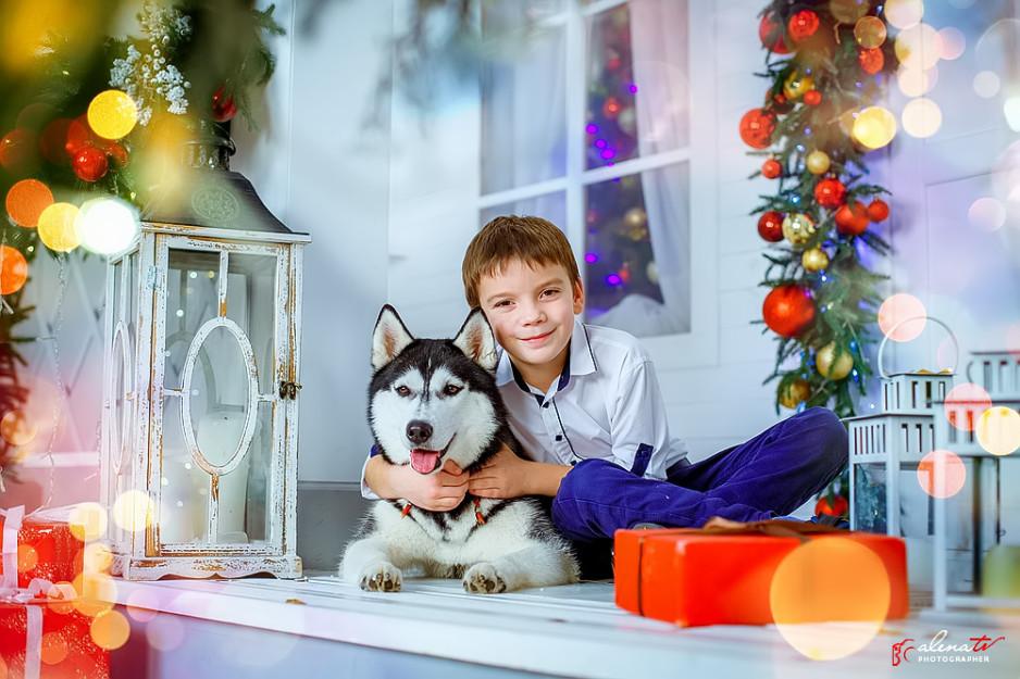 новогодняя фотосессия в студии для деток фото