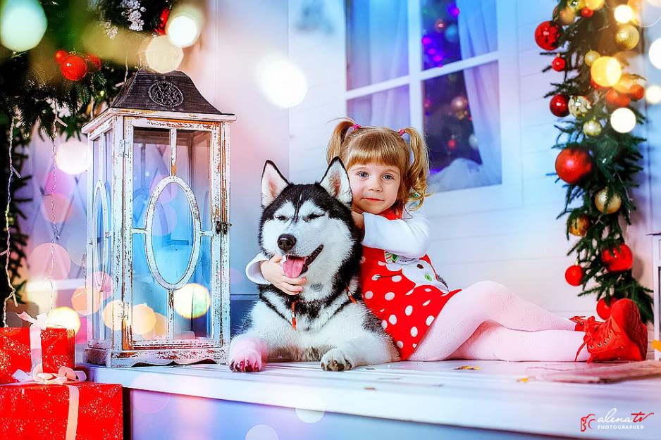новогодняя красивая детская фотосессия фото