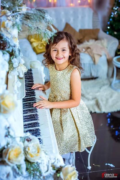 красивая детская новогодняя фотосессия фото