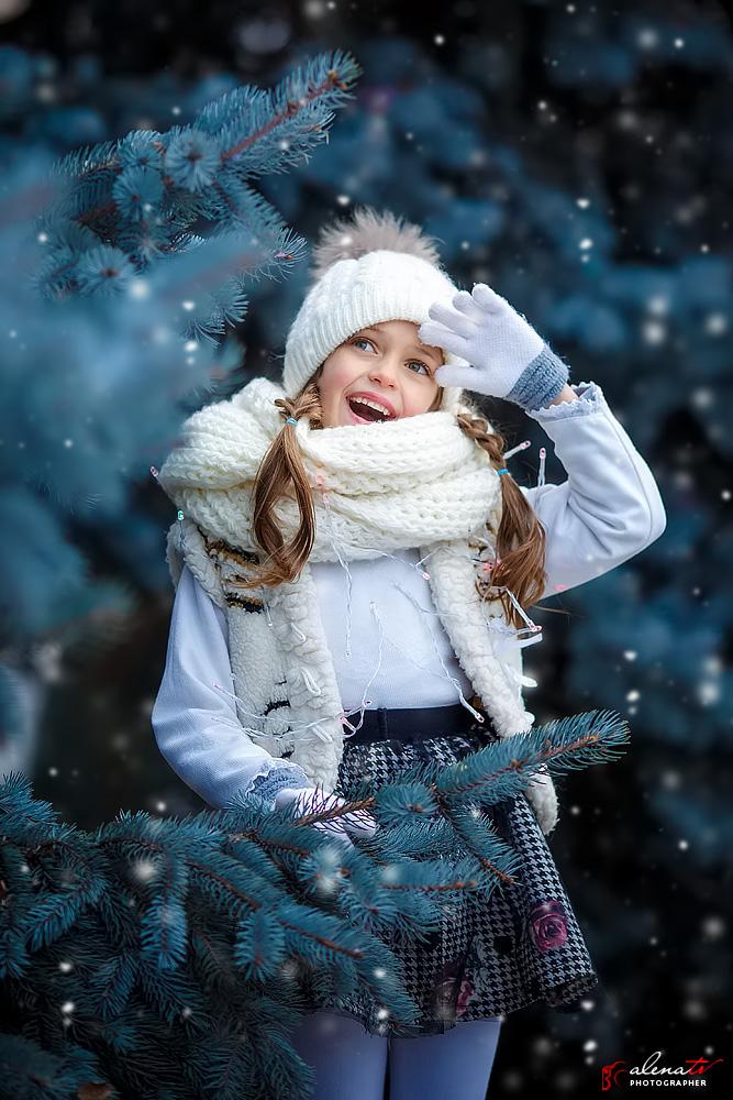 фотопортрет девочки зимой