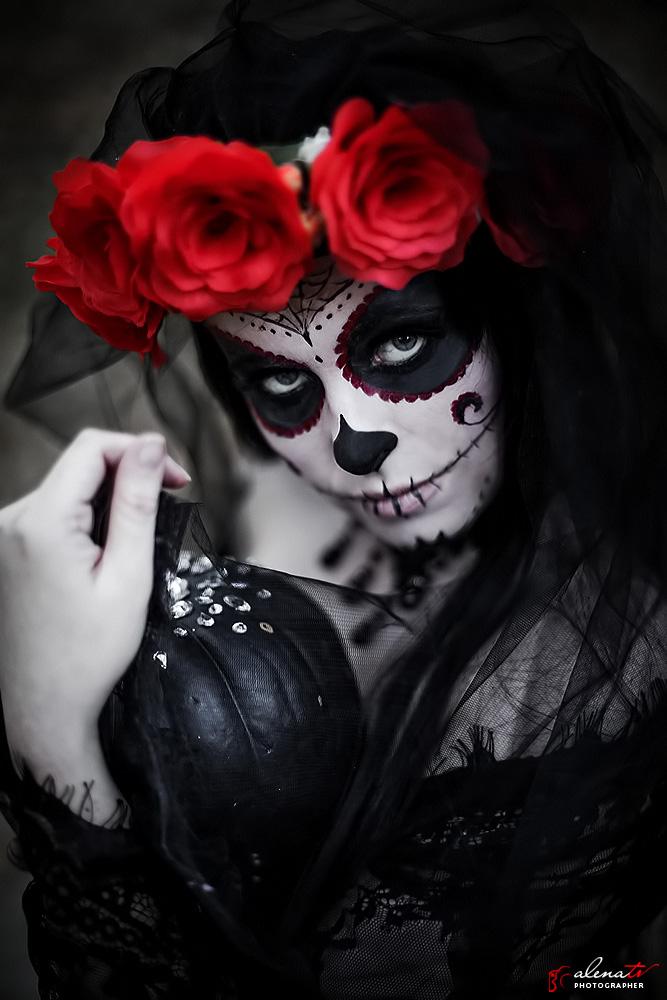 Santa Muerte в фотопроекте на тему Halloween