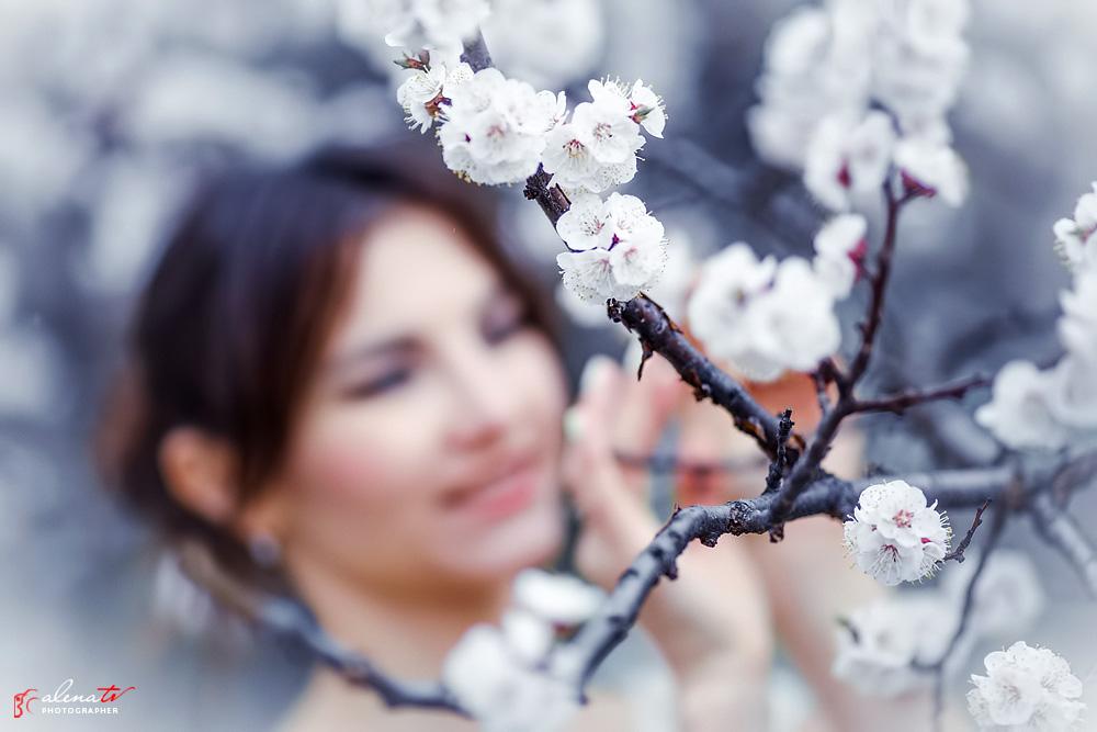 идеи для весенней фотосессии с цветущими абрикосами