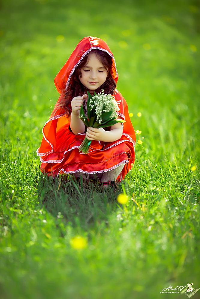костюмированная фотосессия красная шапочка