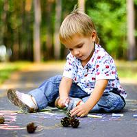 пример детской фотосессии на природе