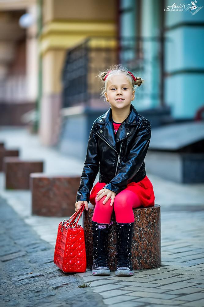 фотосессия стильной девочки