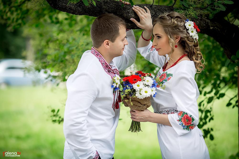 свадьба молодых в украинском стиле