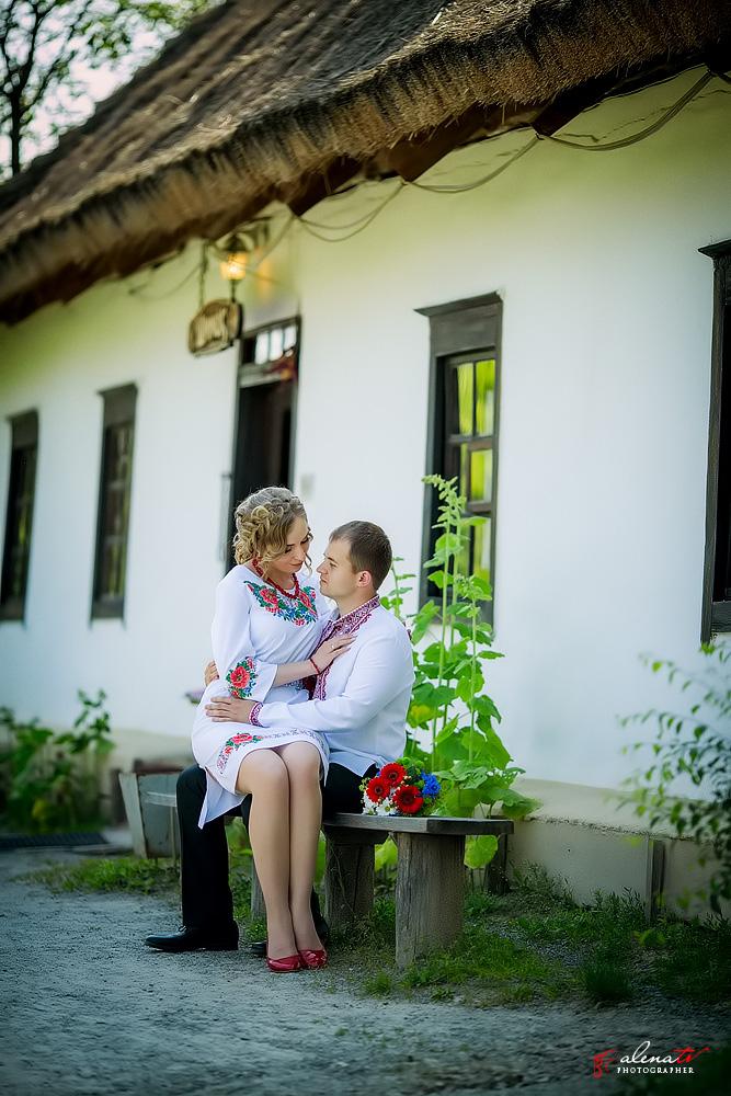 свадьба в украинском стиле на улице