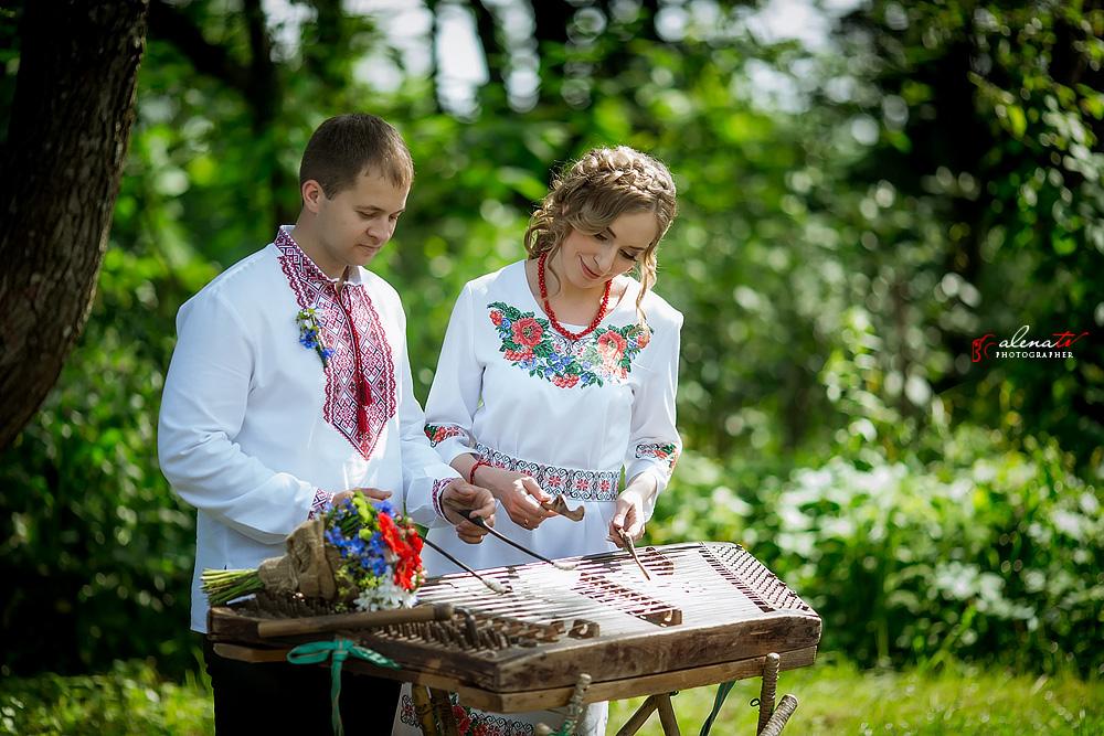 свадьба в украинском стиле на пленэре