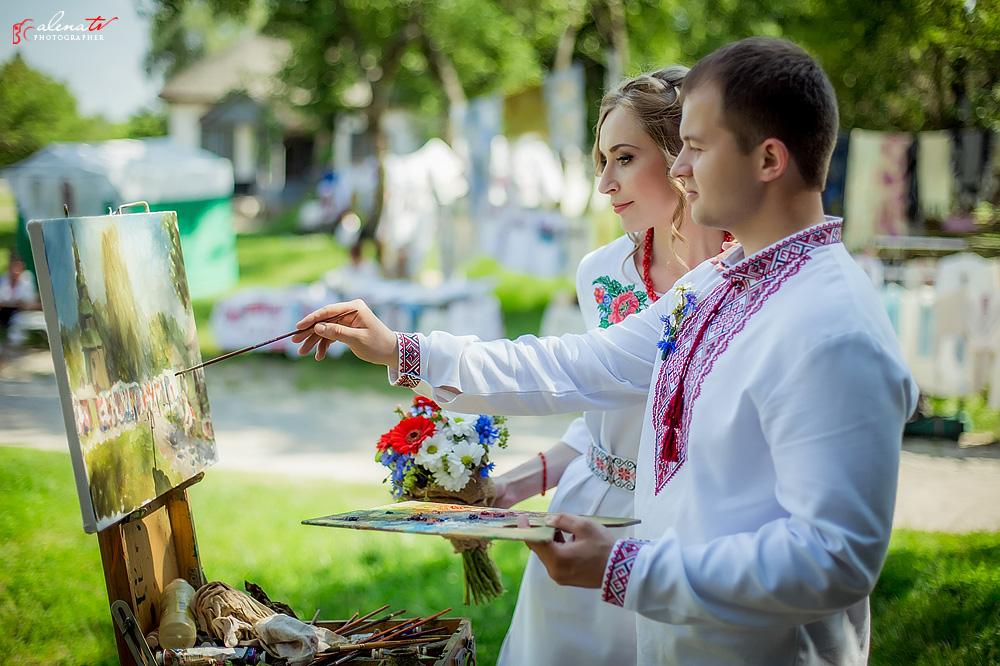 свадьба молодоженов в украинском стиле