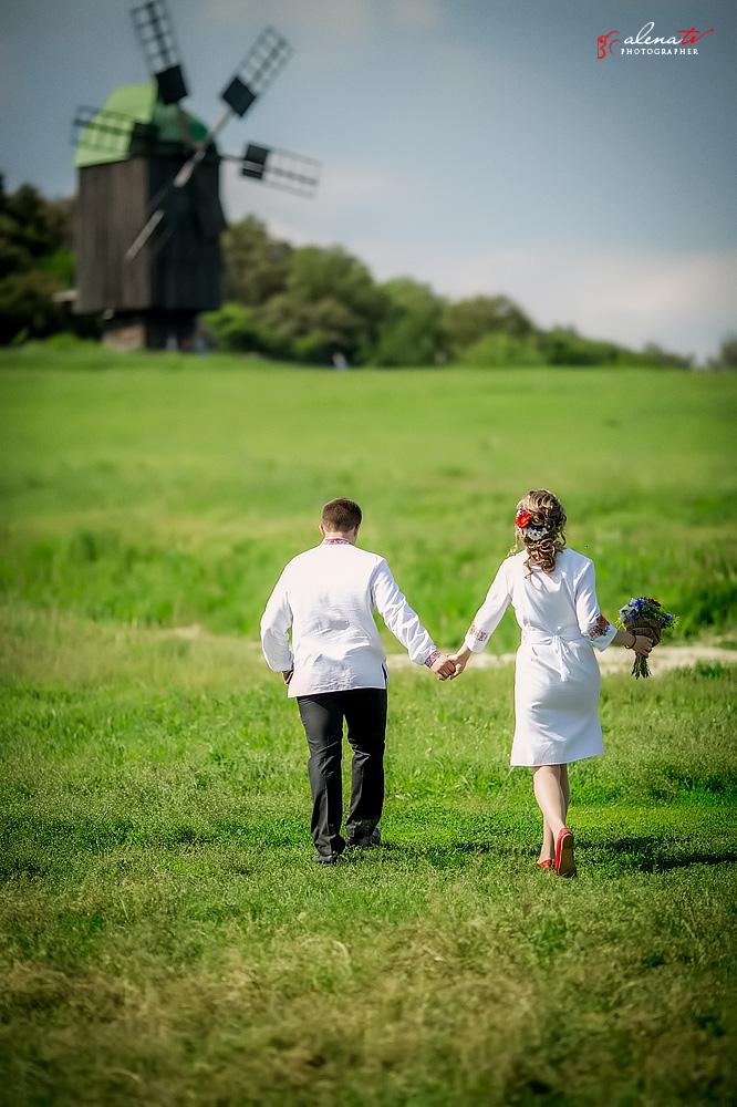 свадьба в украинском стиле на природе