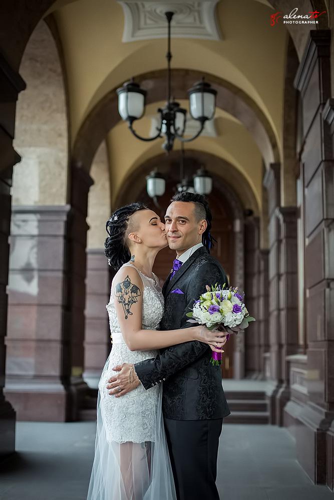 свадебная фотосъемка в фотостудии